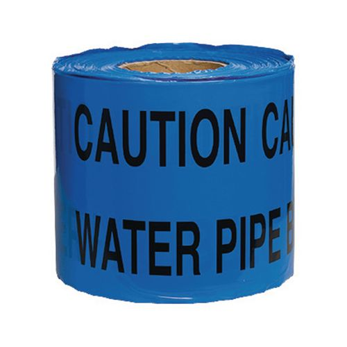 Non-Adhesive Printed Message Tape To Alert Contractors Of Buried Water Pipe
