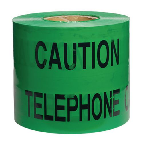 Non-Adhesive Printed Message Tape To Alert Contractors Of Buried Telephone Cable