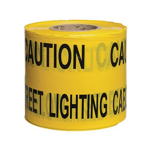 Non-Adhesive Printed Message Tape To Alert Contractors Of Buried Street Lighting Cab