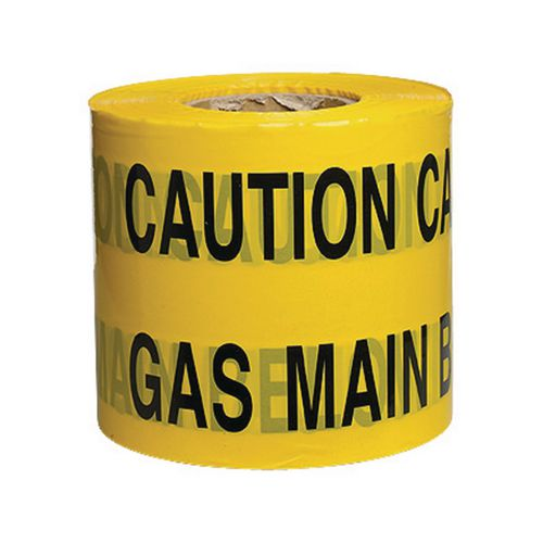 Non-Adhesive Printed Message Tape To Alert Contractors Of Buried Gas Main Supply Pip