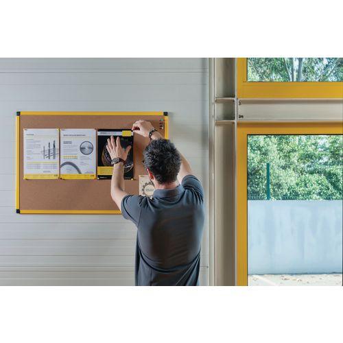 Yellow Maya Frame Cork Noticeboard 900X600