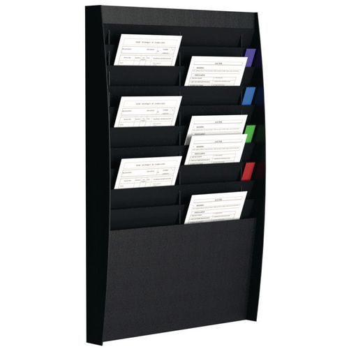 Fast Paper Document Control Panel 2X10 Compartments A4 Black