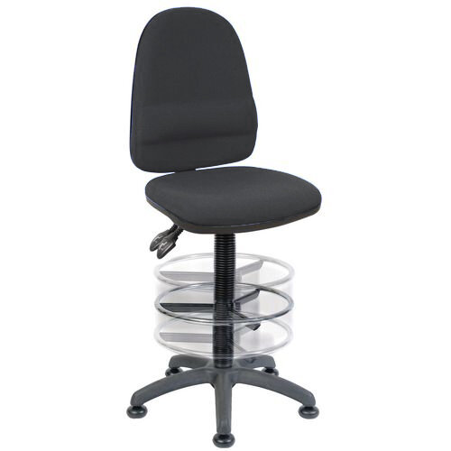 Ergo Twin Deluxe Draughting Chair Black