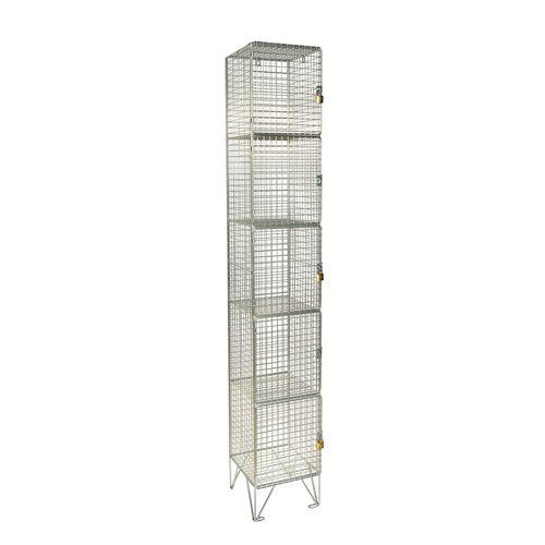 Wire Mesh Locker 5 Door Individual D:457mm