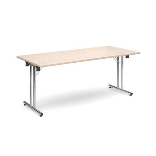 Deluxe Rectangular 1800mm Folding Leg Maple Meeting Table