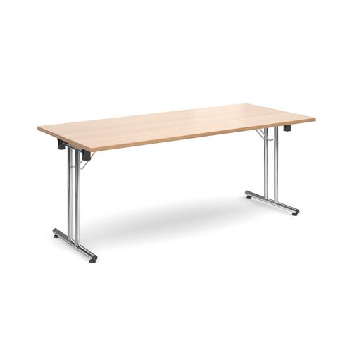 Deluxe Rectangular 1800mm Folding Leg Beech Meeting Table