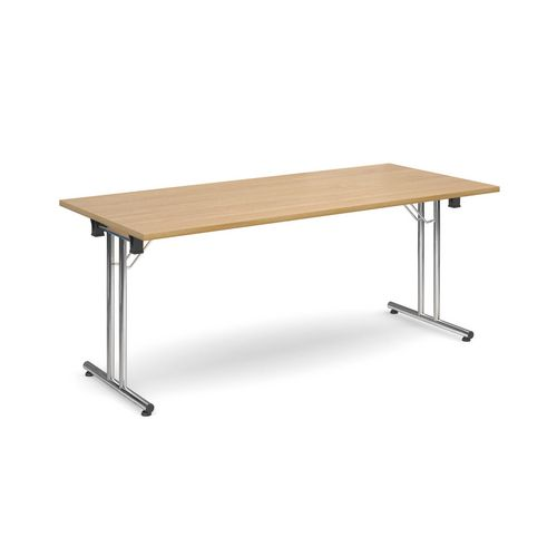 Deluxe Rectangular 1800mm Folding Leg Oak Meeting Table