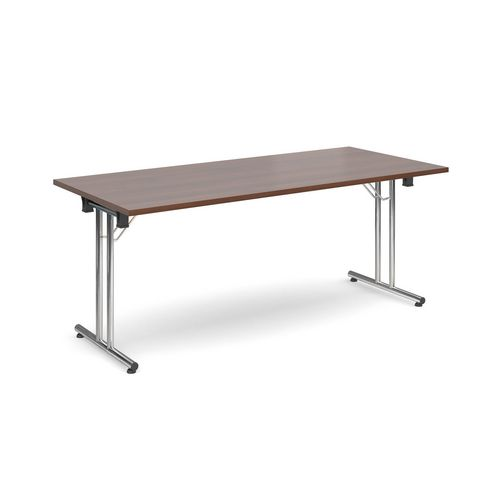 Deluxe Rectangular 1800mm Folding Leg Walnut Meeting Table