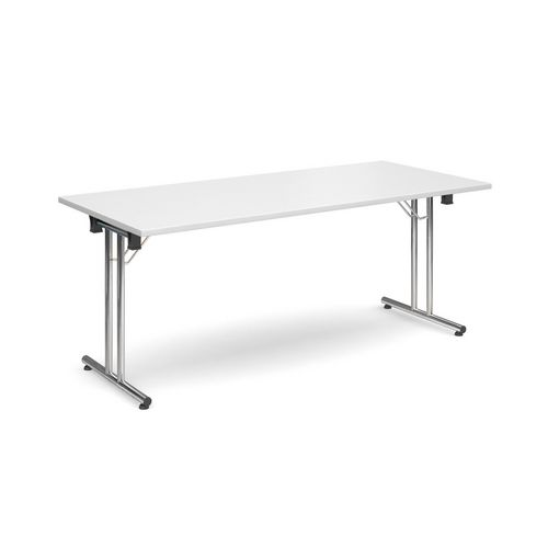 Deluxe Rectangular 1800mm Folding Leg White Meeting Table