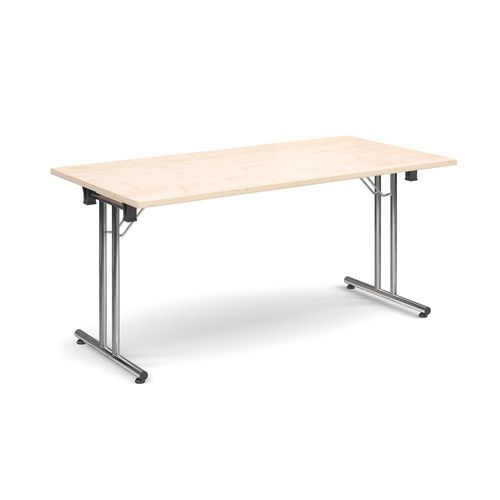 Deluxe Rectangular 1600mm Folding Leg Maple Meeting Table