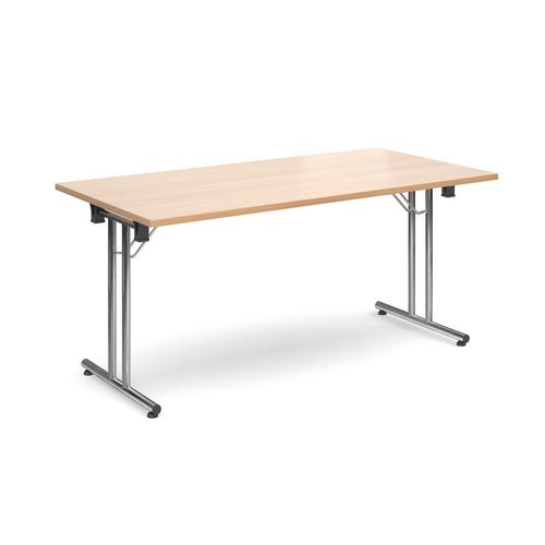 Deluxe Rectangular 1600mm Folding Leg Beech Meeting Table