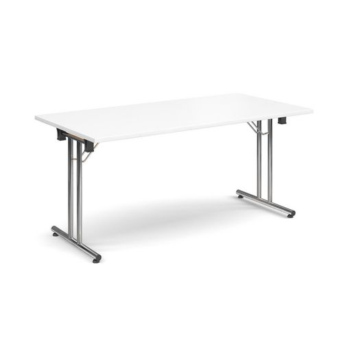 Deluxe Rectangular 1600mm Folding Leg White Meeting Table