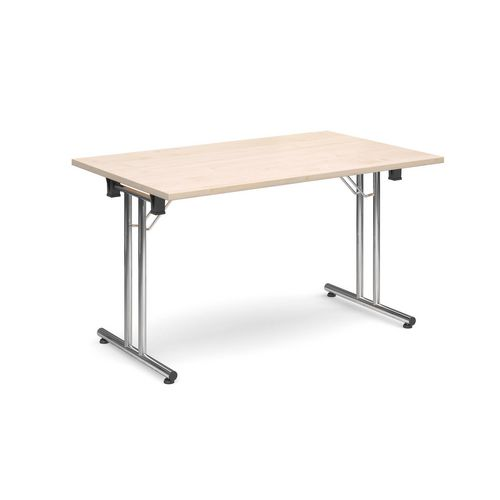 Deluxe Rectangular 1300mm Folding Leg Maple Meeting Table
