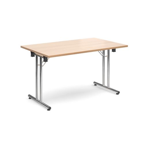 Deluxe Rectangular 1300mm Folding Leg Beech Meeting Table