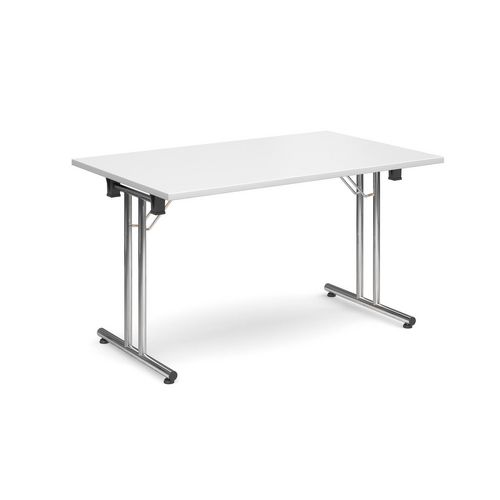 Deluxe Rectangular 1300mm Folding Leg White Meeting Table