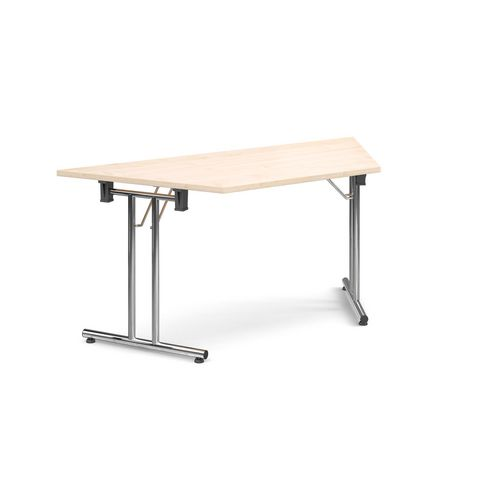 Deluxe Trapezoidal Folding Leg Maple Meeting Table