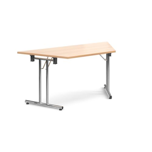 Deluxe Trapezoidal Folding Leg Beech Meeting Table