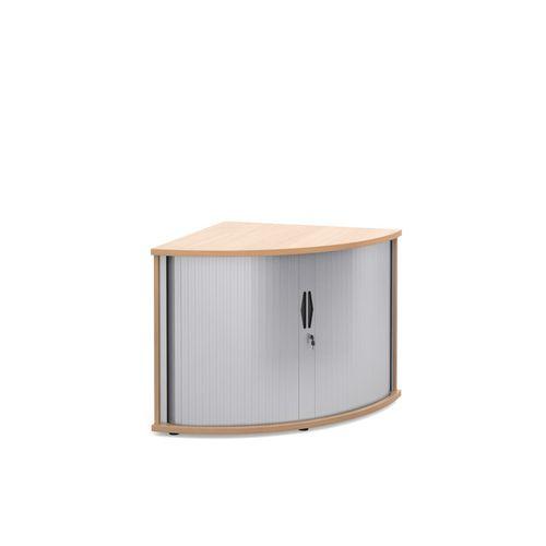 Deluxe Corner Storage Tambour Unit In Beech
