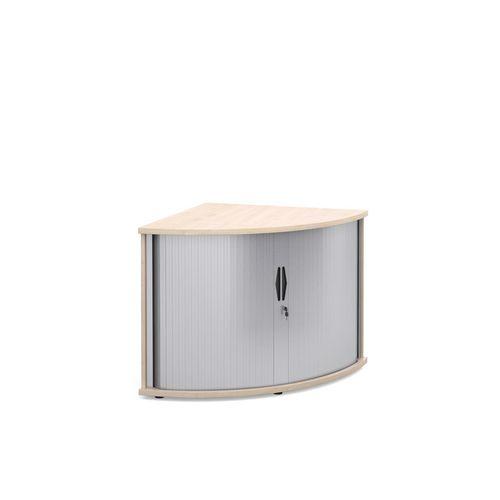 Deluxe Corner Storage Tambour Unit In Maple