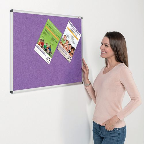 Eco-Colour Aluminium Framed Resist-A-Flame Board 1200x1200mm Purple