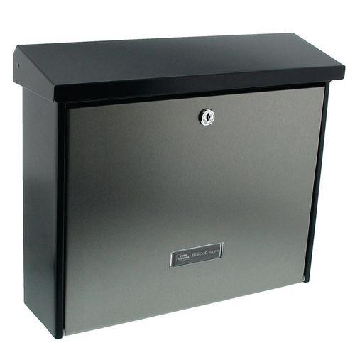 Post Box High Qaulity Stainless Steel Door And Galvanised Steel Housing Coated In Matt Black. W377xH320 X