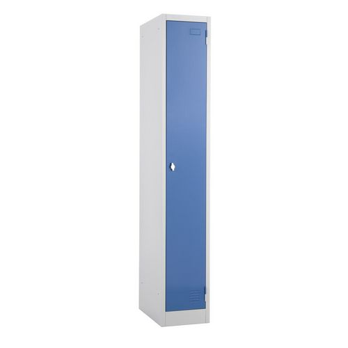 Metal Locker 1800x300 300 1 Door Blue Door Swivel Catch