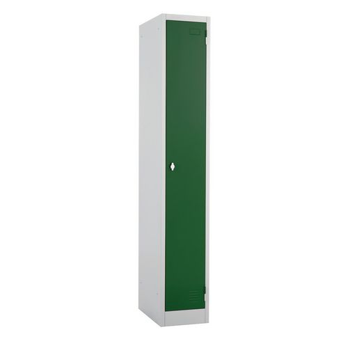 Metal Locker 1800x300 300 1 Door Green Door Swivel Catch