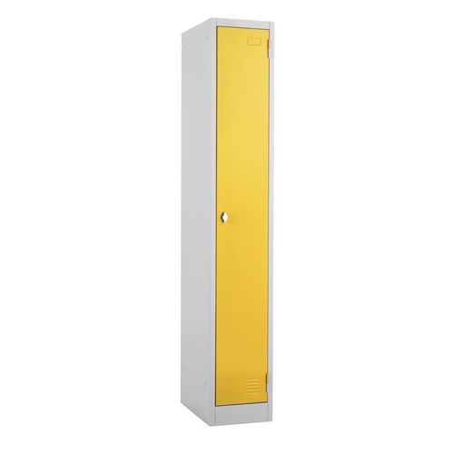 Metal Locker 1800x300 300 1 Door Yellow Door Swivel Catch