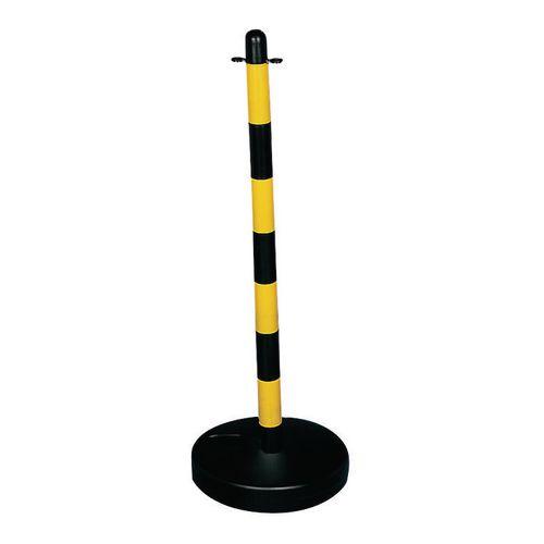 Post Yellow/Black Freestanding Circular Plastic Base