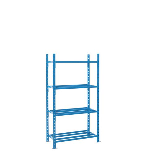 Shelving Heavy Duty Tubular Starter Bay With Shelf Cover 5 Shelves 2500X1000X500mm