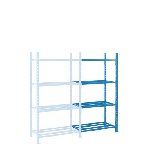 Shelving Heavy Duty Tubular Add-On Bay With Shelf Cover 5 Shelves 2500X1000X600mm