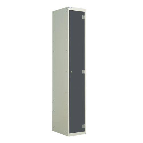 Laminate Door Lockers Dark Grey Door Wet Area 1800.300.300 1 Compartment