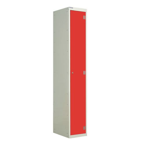 Laminate Door Lockers Red Door Wet Area 1800.300.300 1 Compartment