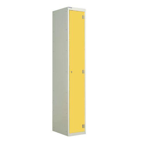 Laminate Door Lockers Yellow Door Wet Area 1800.300.300 1 Compartment