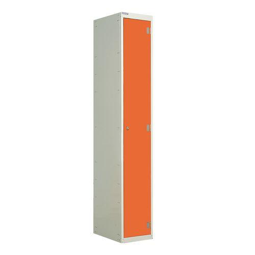 Laminate Door Lockers Orange Door Wet Area 1800.300.300 1 Compartment
