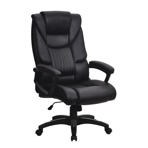 Titan High Back Leather Effect Managers Chair
