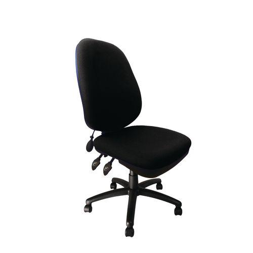 Carlisle Black Op Chair With Pump Up Lumbar