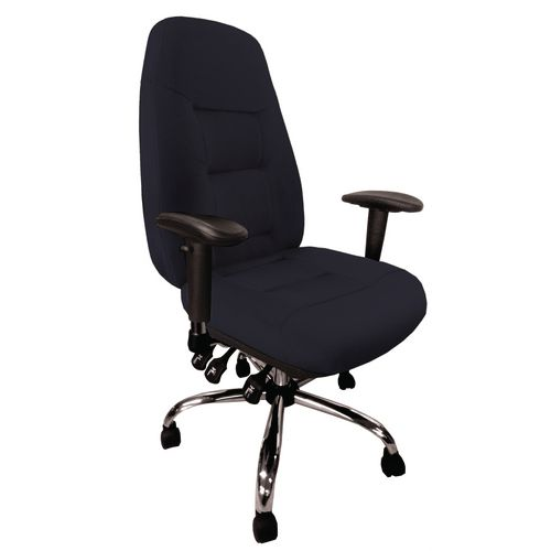 Babylon Black Fabric 24Hr Operator Chair