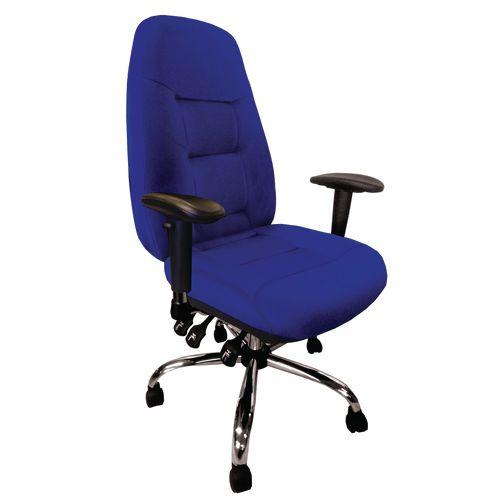 Babylon Blue Fabric 24Hr Operator Chair