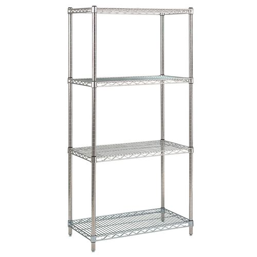 Stainless Steel Shelving HxWxDmm 1650x1000x600 With 4 Shelves