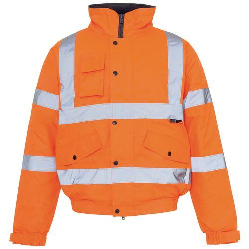 Hi Vis Bomber Jacket Orange Large