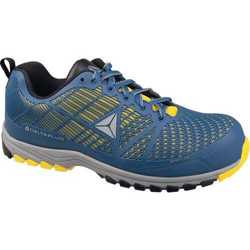 Delta Sport Premium Comfort Sports Style Safety Trainer Blue/Yellow Uk Size 6 Eu
