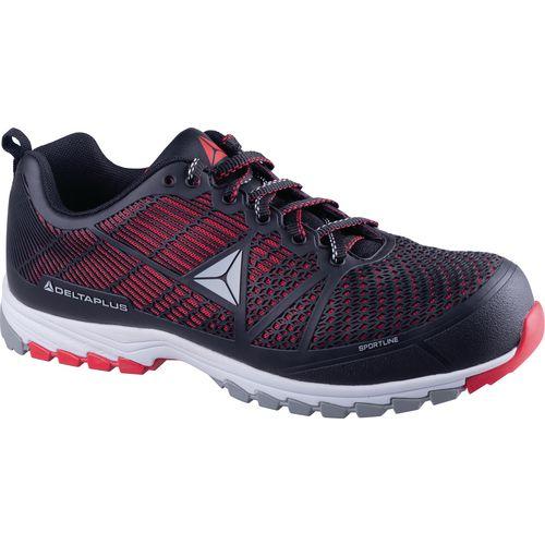 Delta Sport Premium Comfort Sports Style Safety Trainer Black/Red Uk Size 9 Eu Si