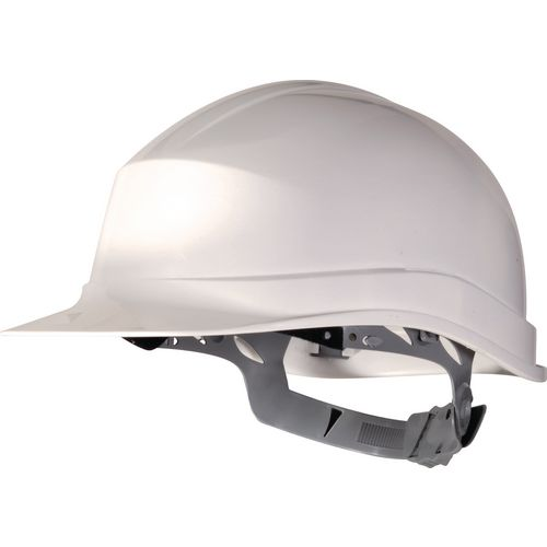 Essential Safety Helmet White Polethylene With Sweat Band And Manual Adjustment
