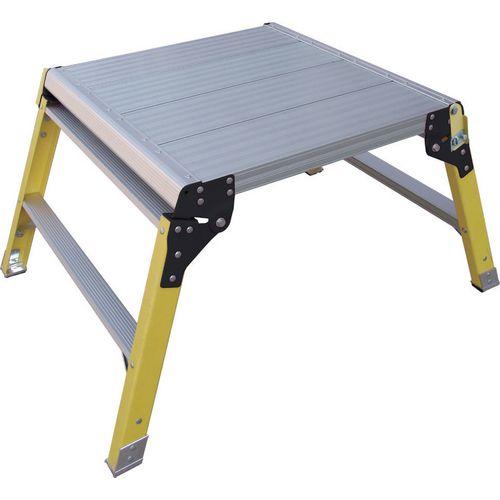 Fold-Up Platform 600x600mm En131/2Pfg1240 Fibreglass Legs