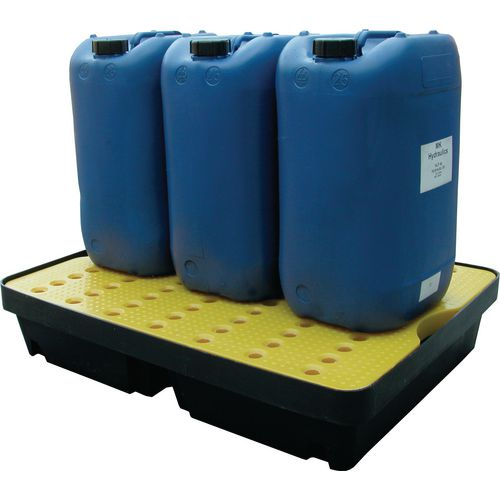 40 Litre Spill Tray With Yellow Platform