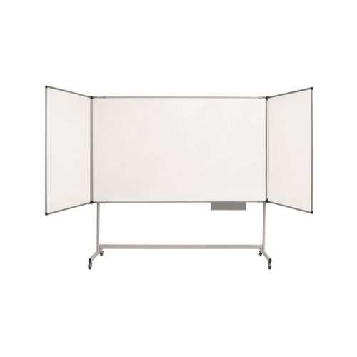 Maya Trio Whiteboard For Mobile Structure / W1800Xh1200mm (Closed) /Lacquered Steel / Cork S