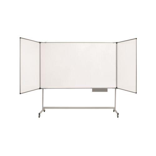 Maya Trio Whiteboard For Mobile Structure / W2000Xh100mm (Closed) /Lacquered Steel / Cork Su