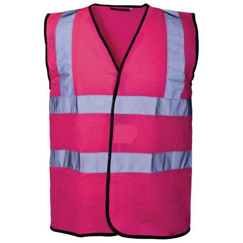 Hi Vis Vest Pink Xlarge