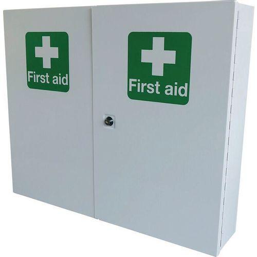 First Aid Metal Cabinet Double Door Single Depth